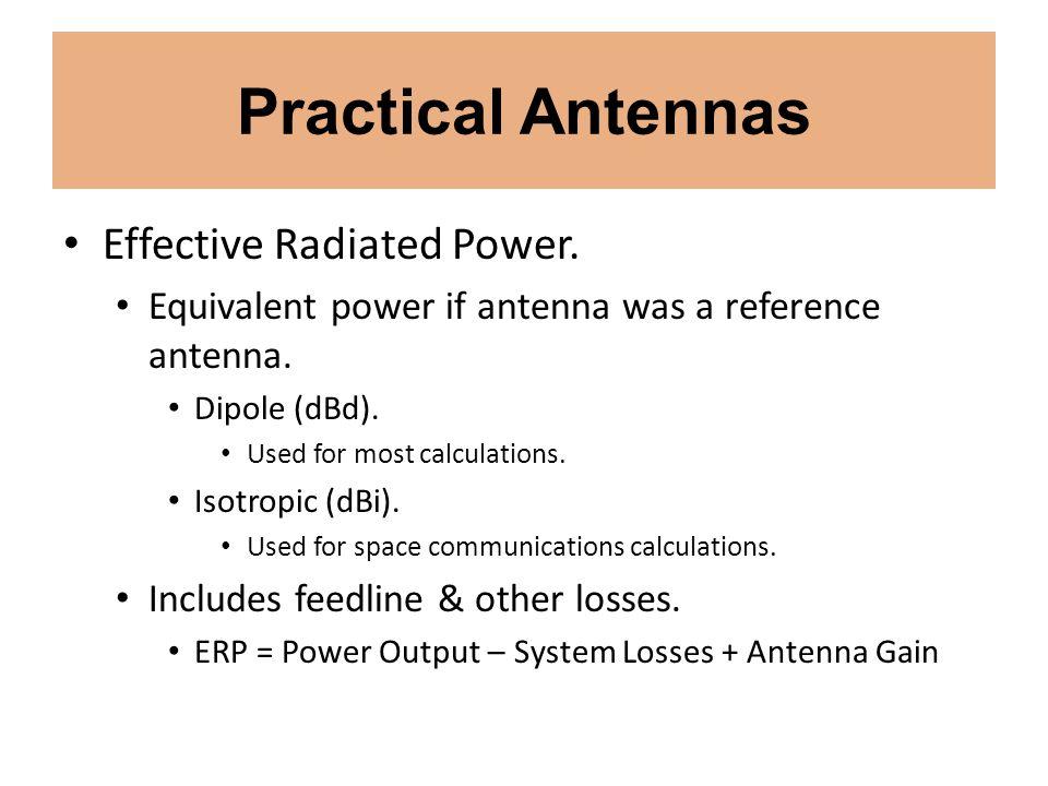 Practical Antennas Effective Radiated Power.