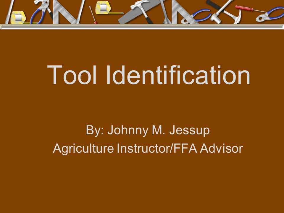 By: Johnny M. Jessup Agriculture Instructor/FFA Advisor