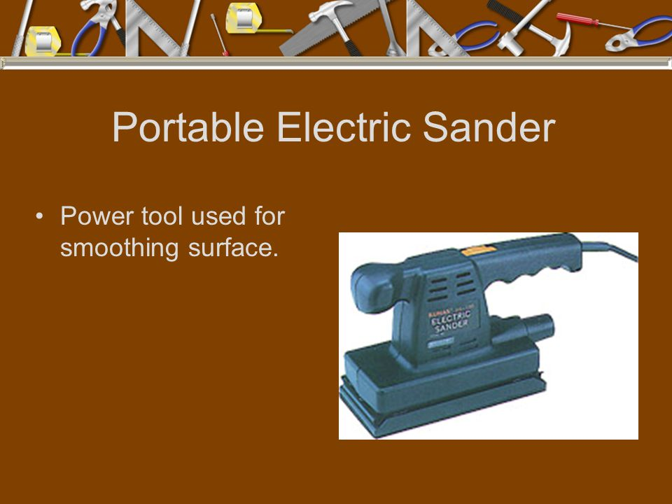Portable Electric Sander