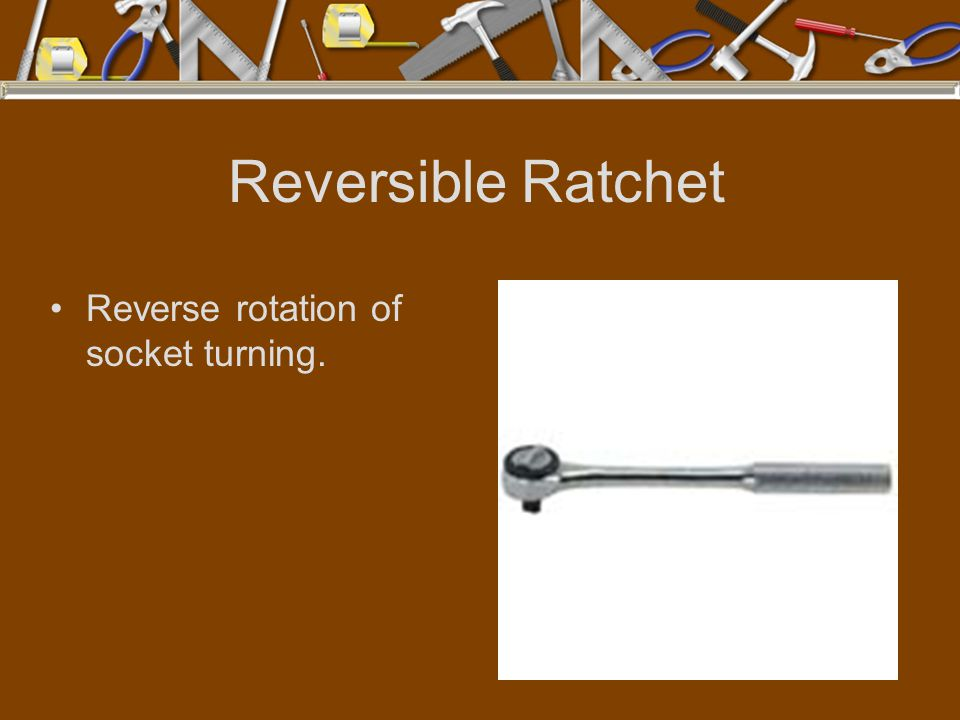 Reversible Ratchet