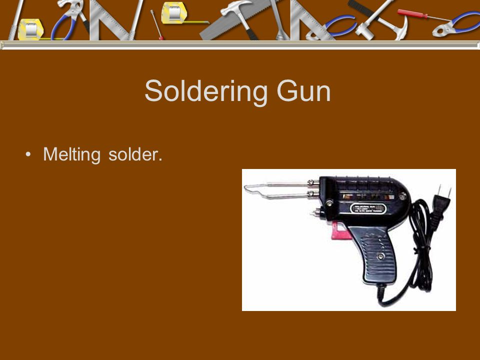 Soldering Gun Melting solder.