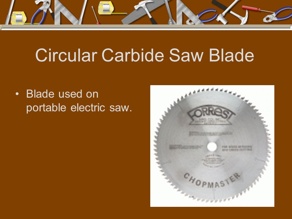 Circular Carbide Saw Blade