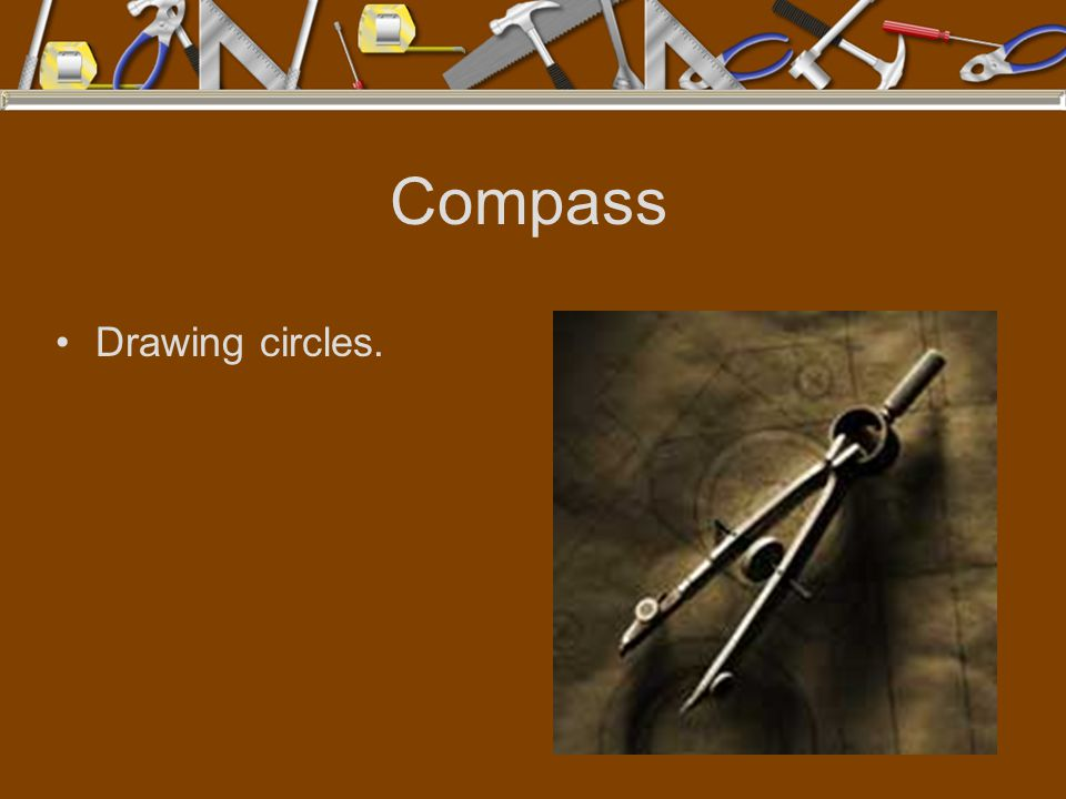 Compass Drawing circles.