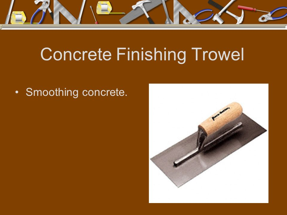 Concrete Finishing Trowel