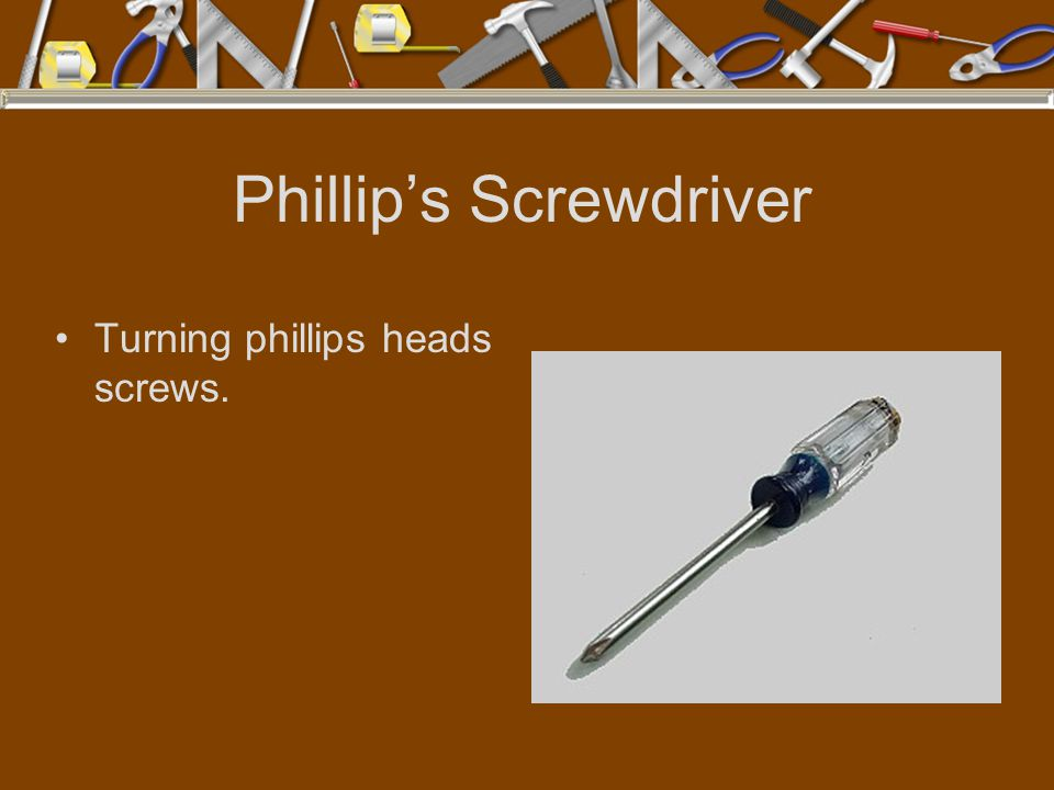 Phillip's Screwdriver