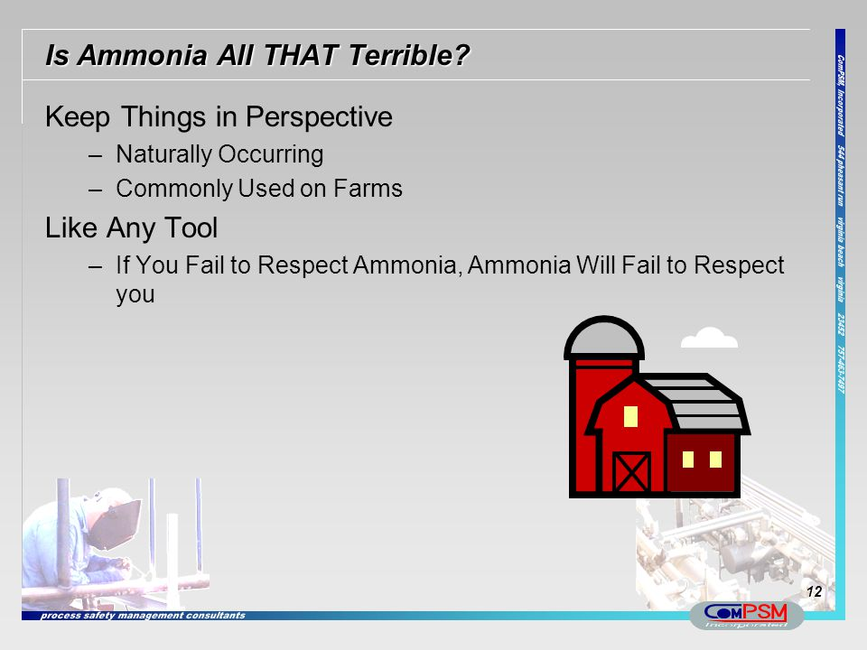 Is Ammonia All THAT Terrible