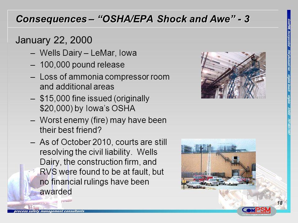 Consequences – OSHA/EPA Shock and Awe - 3