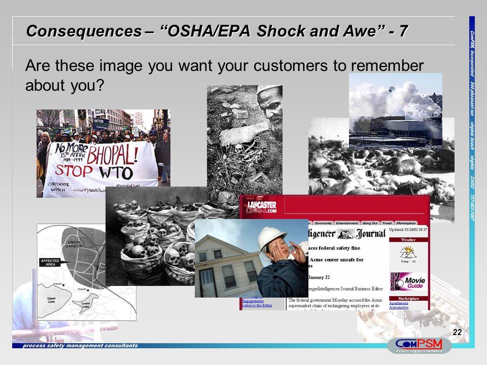 Consequences – OSHA/EPA Shock and Awe - 7