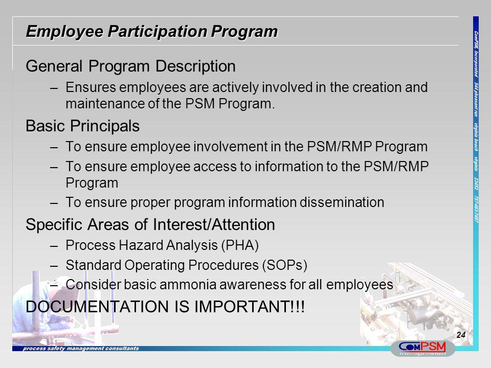 Employee Participation Program