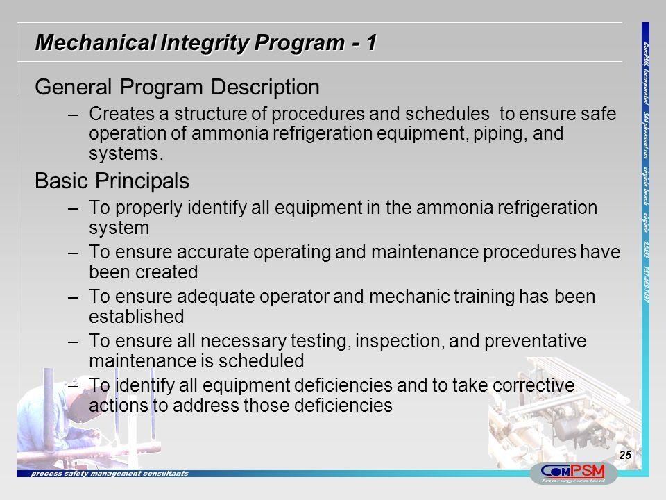 Mechanical Integrity Program - 1