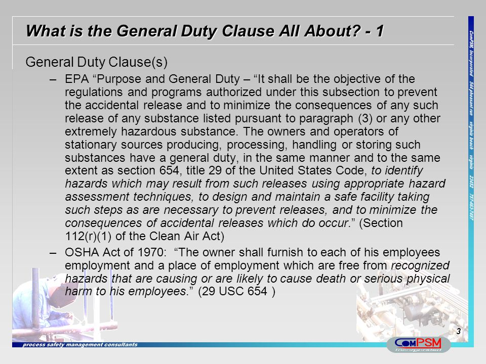 What is the General Duty Clause All About - 1