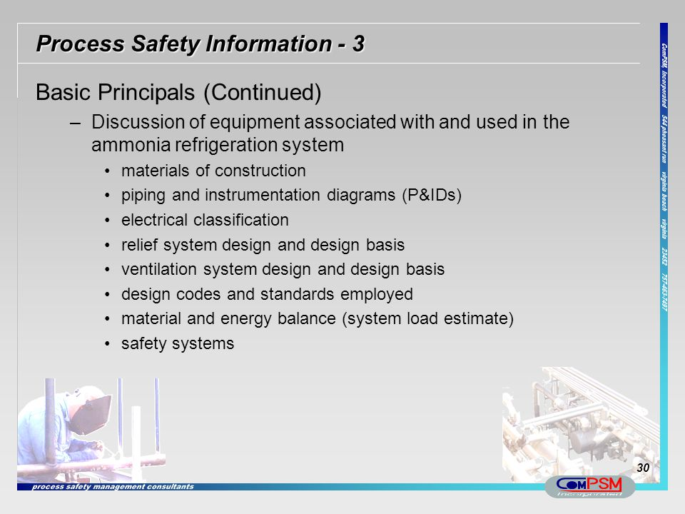Process Safety Information - 3