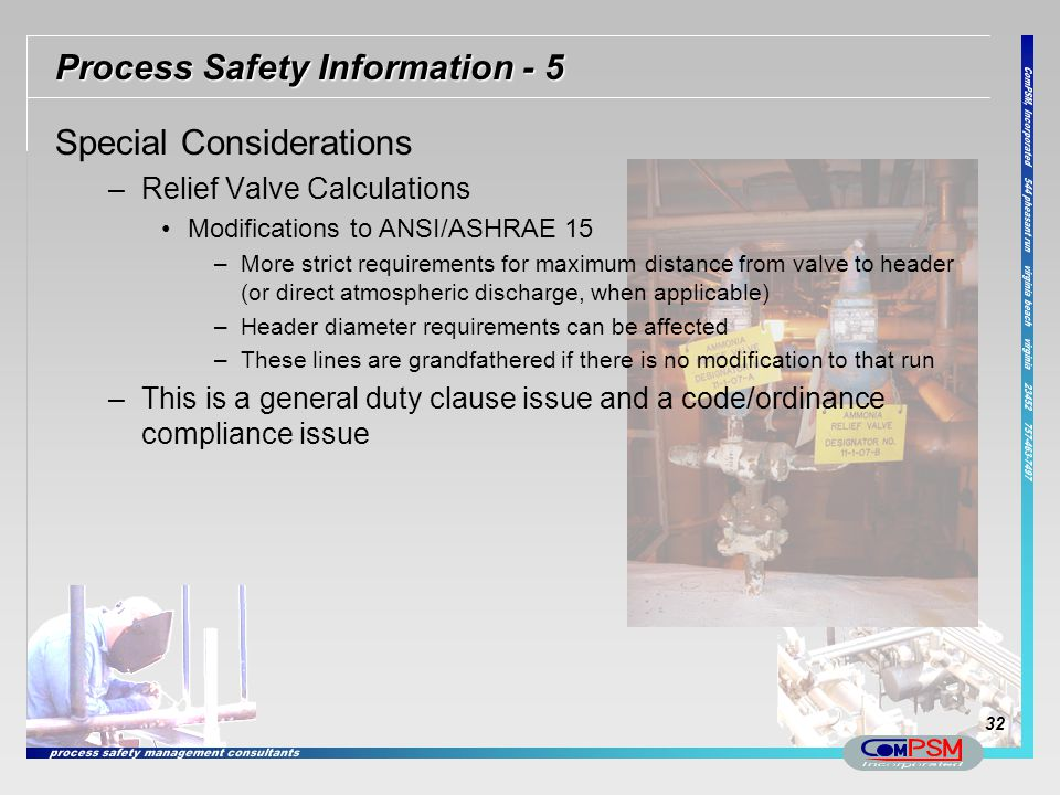 Process Safety Information - 5