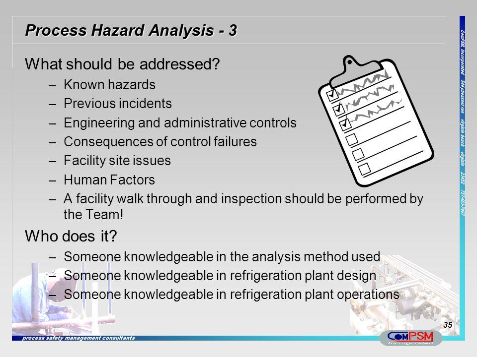 Process Hazard Analysis - 3