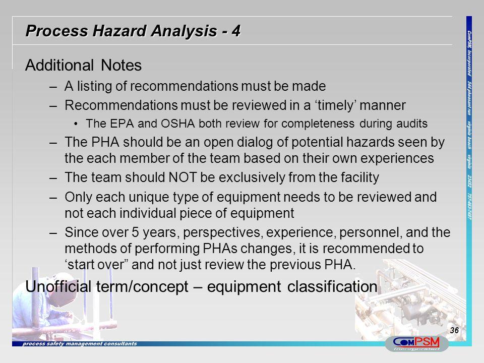Process Hazard Analysis - 4