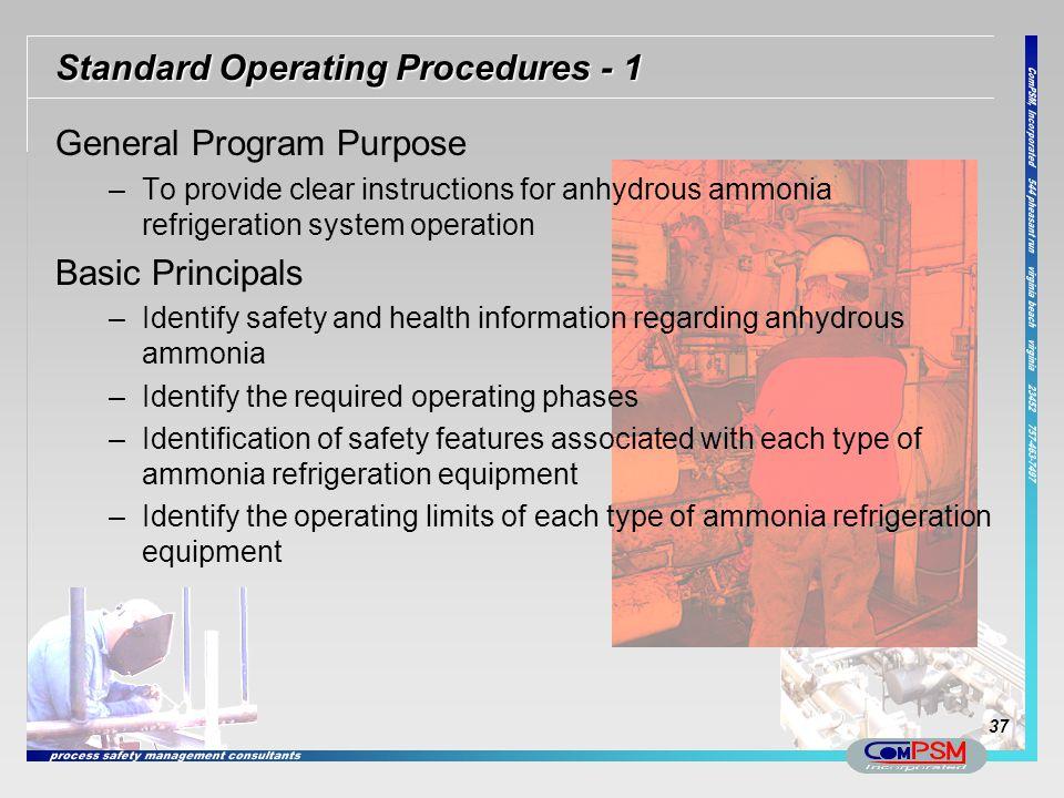 Standard Operating Procedures - 1