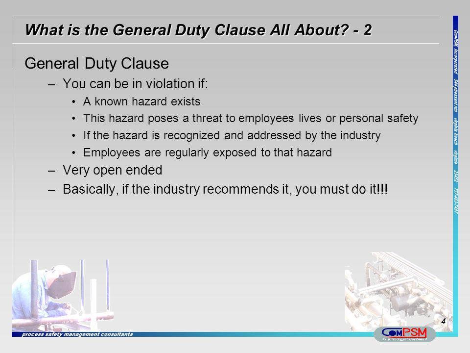 What is the General Duty Clause All About - 2