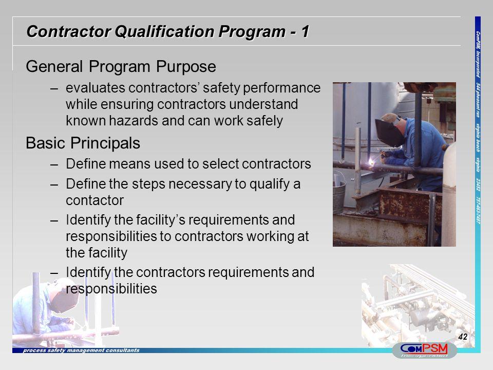 Contractor Qualification Program - 1