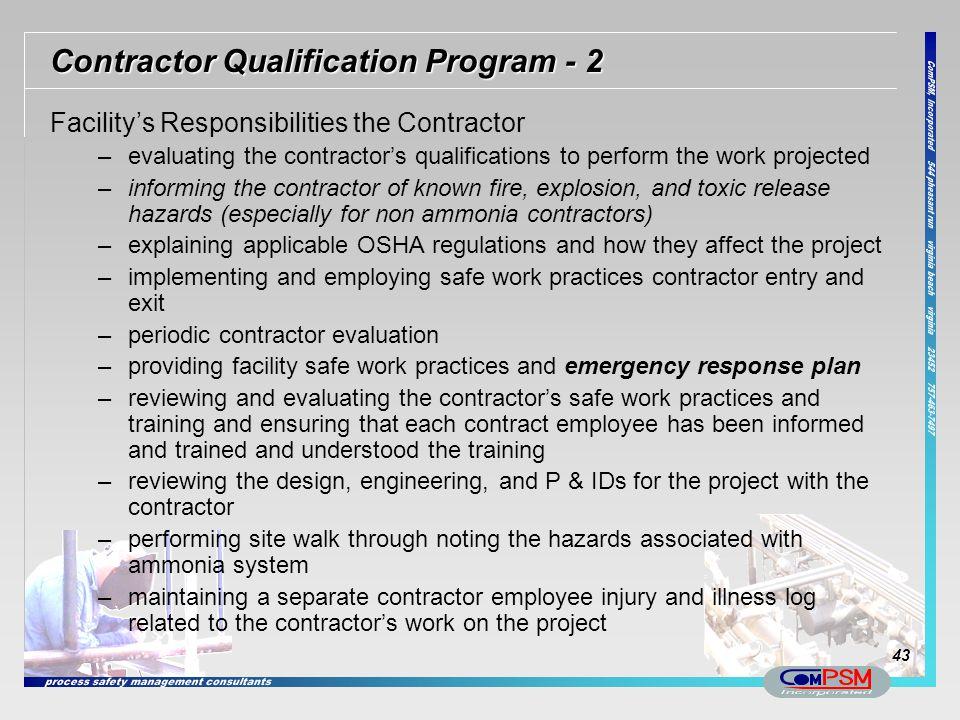 Contractor Qualification Program - 2
