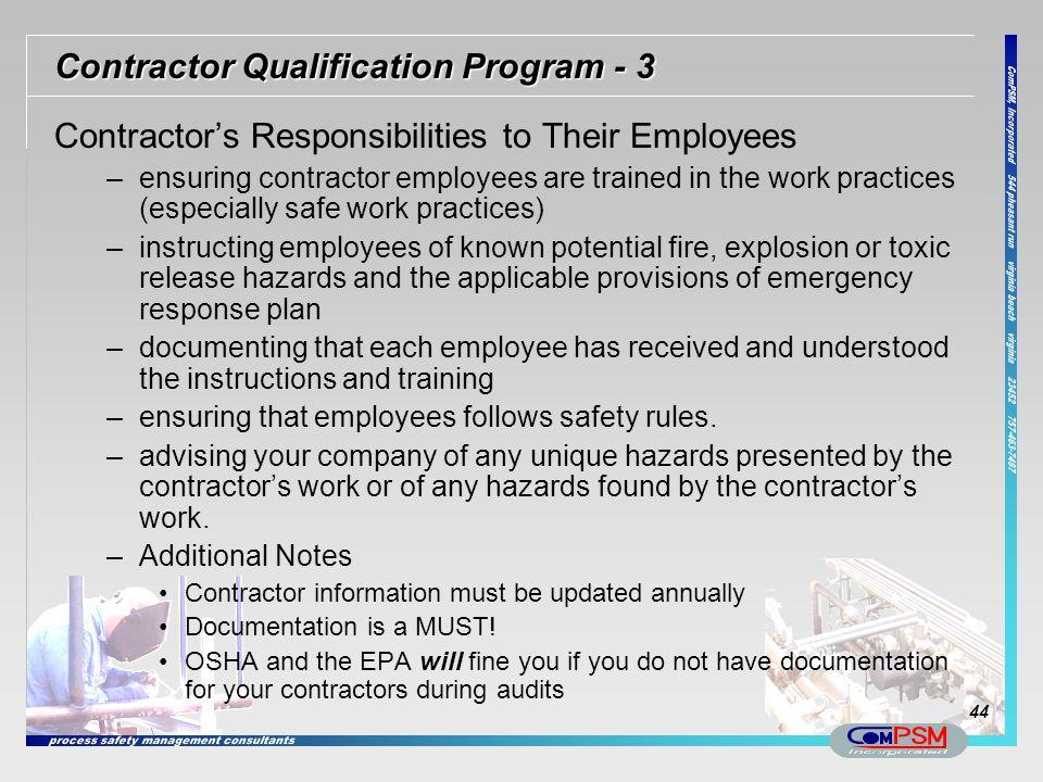 Contractor Qualification Program - 3