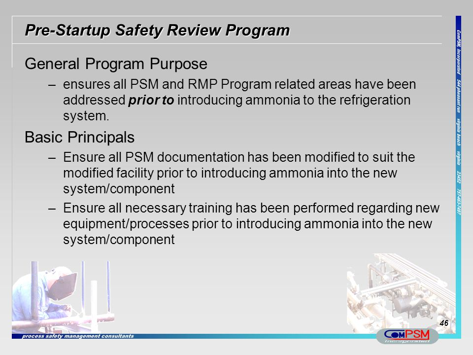 Pre-Startup Safety Review Program