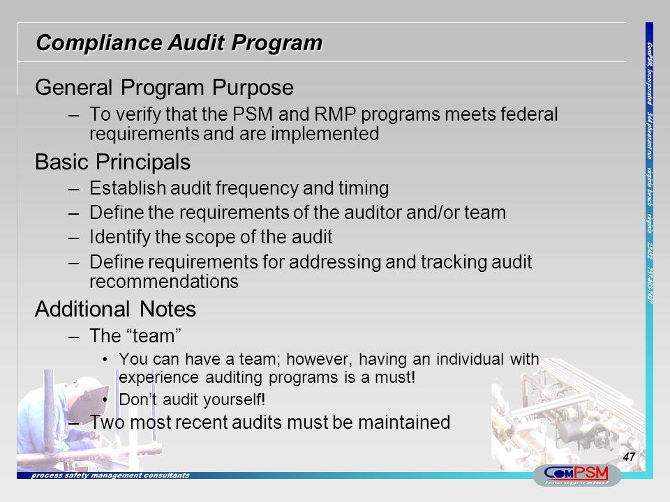 Compliance Audit Program