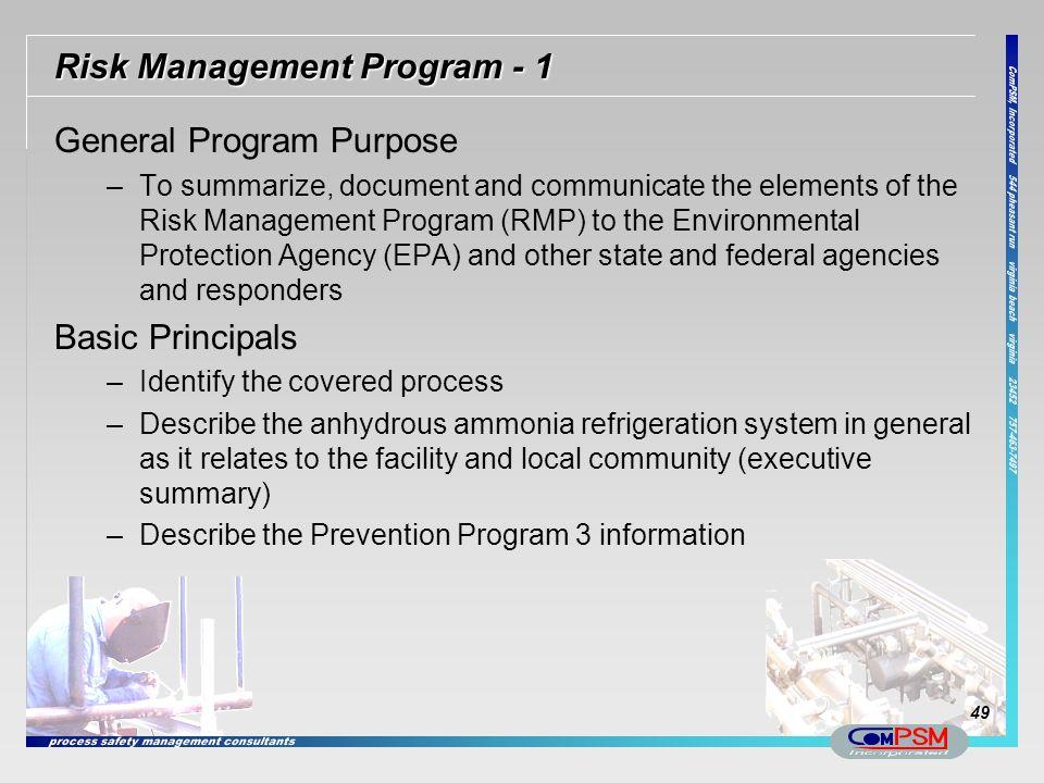 Risk Management Program - 1