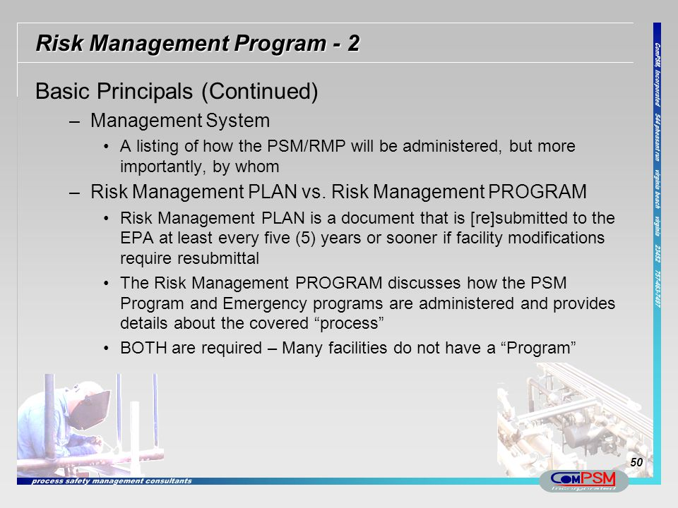 Risk Management Program - 2