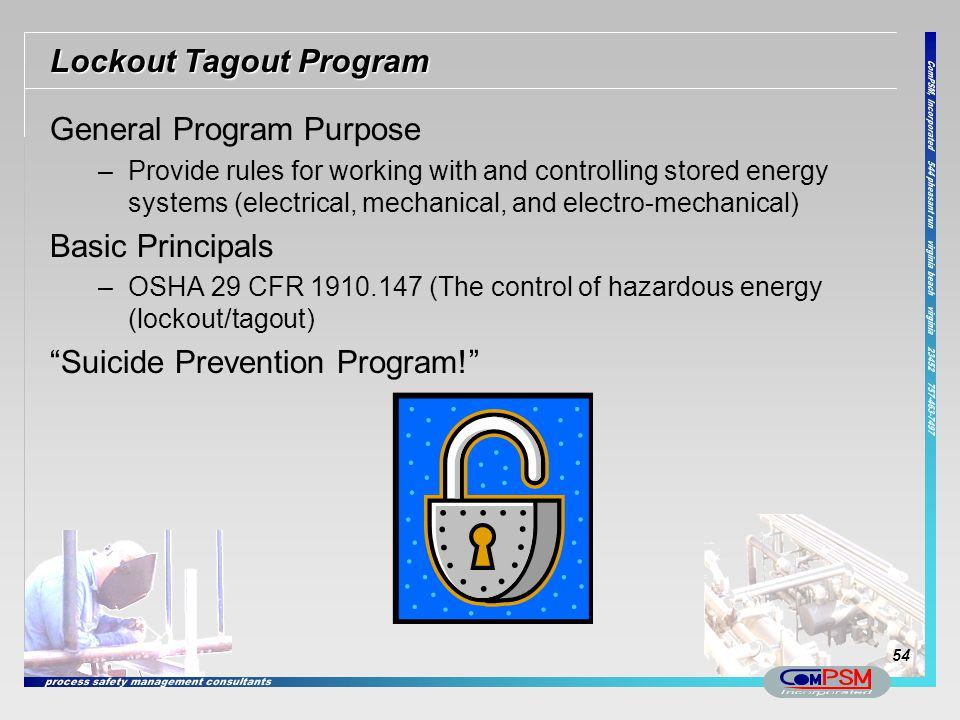 Lockout Tagout Program
