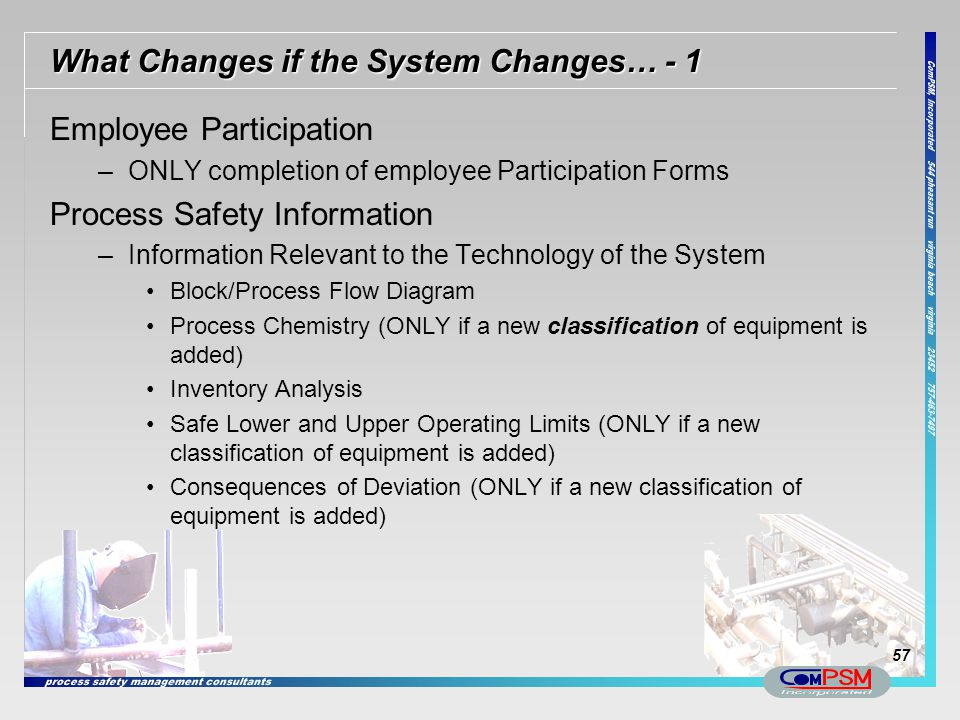 What Changes if the System Changes… - 1