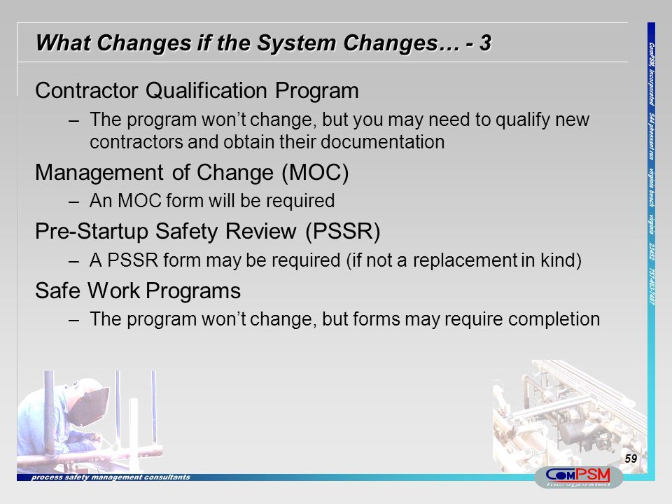 What Changes if the System Changes… - 3