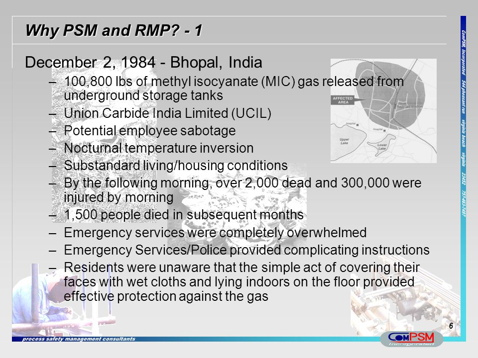 December 2, 1984 - Bhopal, India