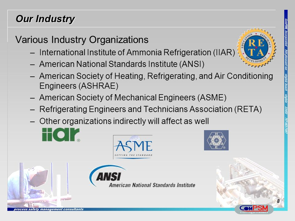 Various Industry Organizations