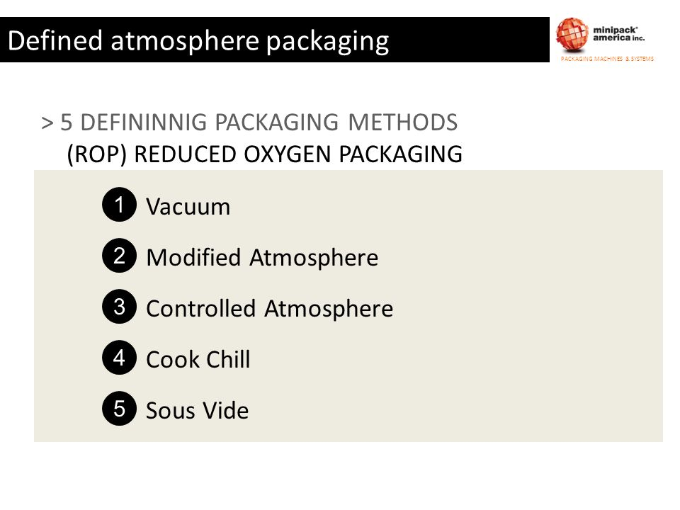 Defined atmosphere packaging