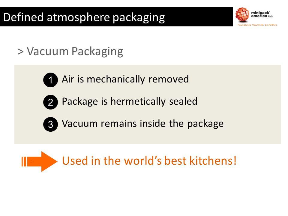 Defined atmosphere packaging
