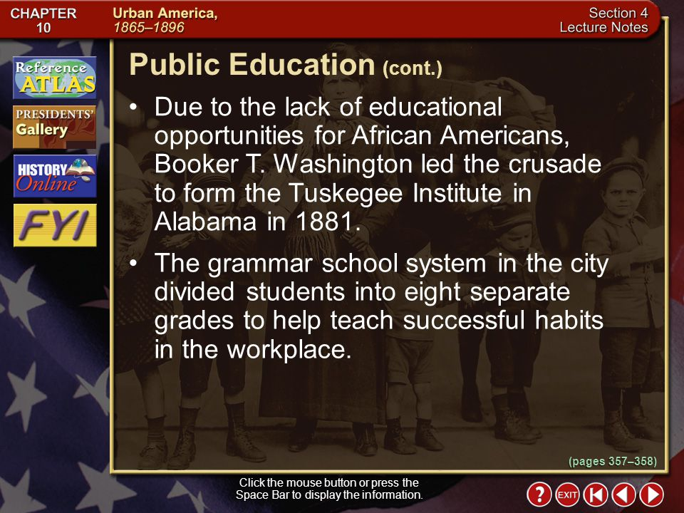 Public Education (cont.)