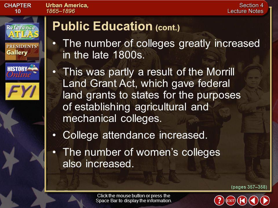 Public Education (cont.)