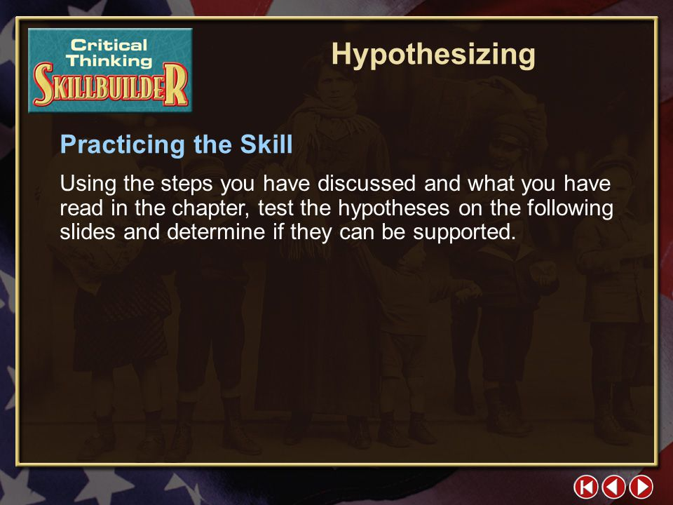 Hypothesizing Practicing the Skill