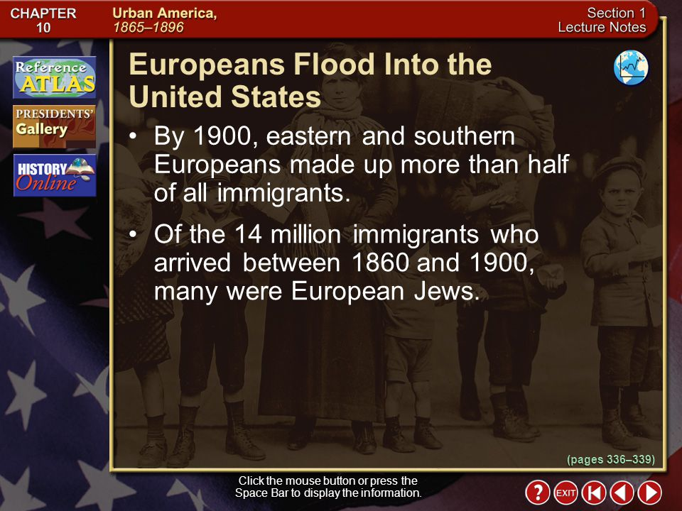 Europeans Flood Into the United States