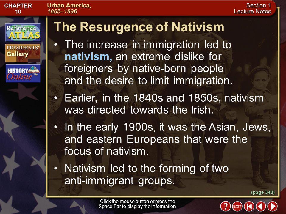 The Resurgence of Nativism