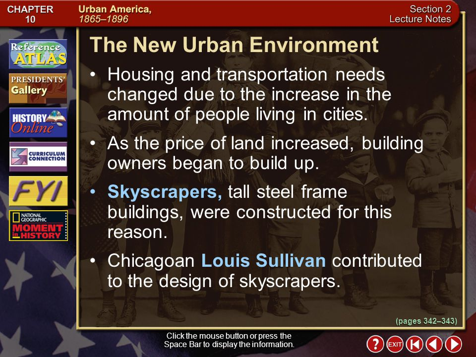 The New Urban Environment