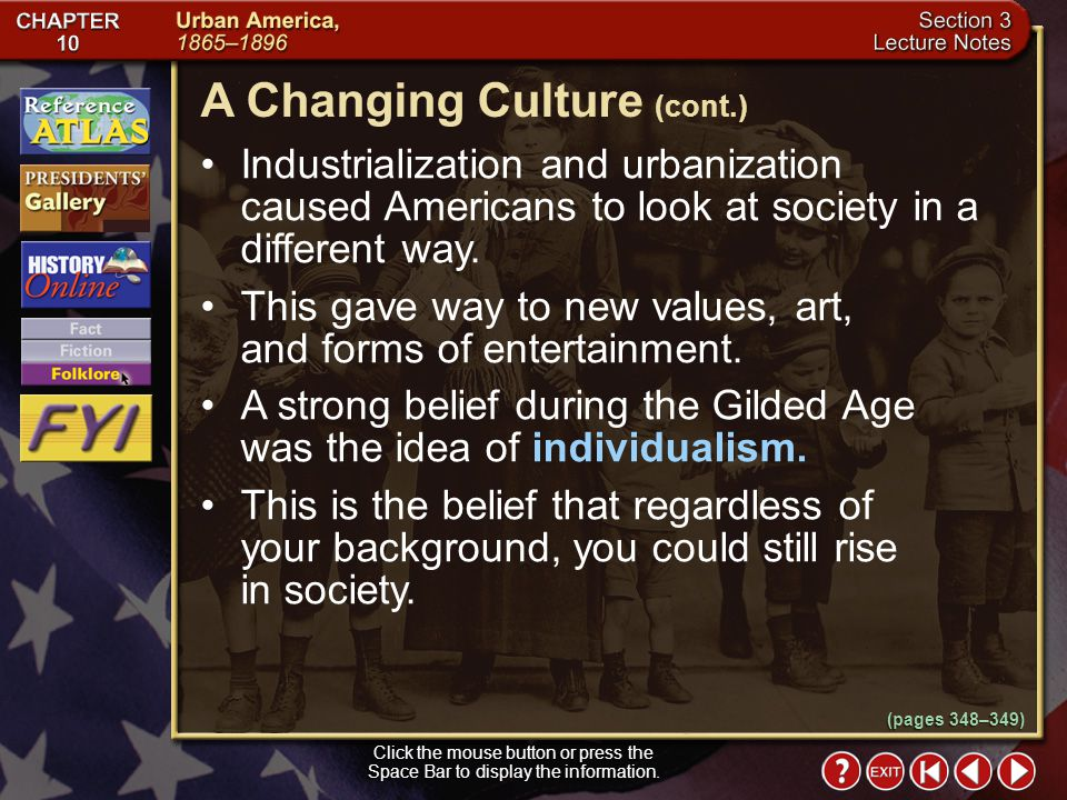 A Changing Culture (cont.)