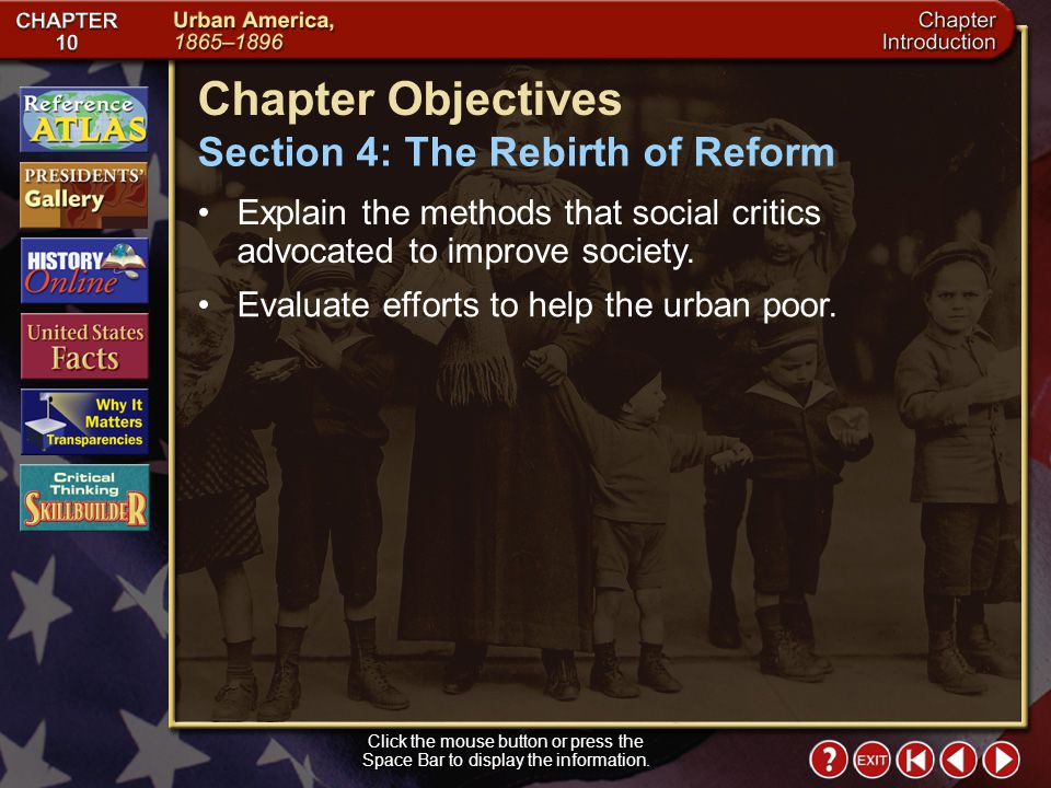 Chapter Objectives Section 4: The Rebirth of Reform