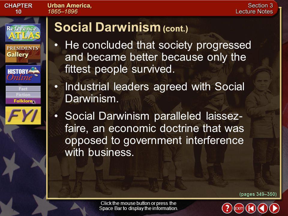 Social Darwinism (cont.)