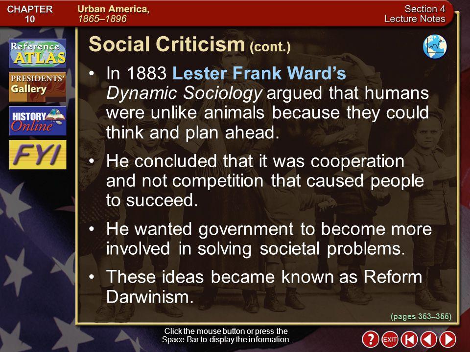 Social Criticism (cont.)