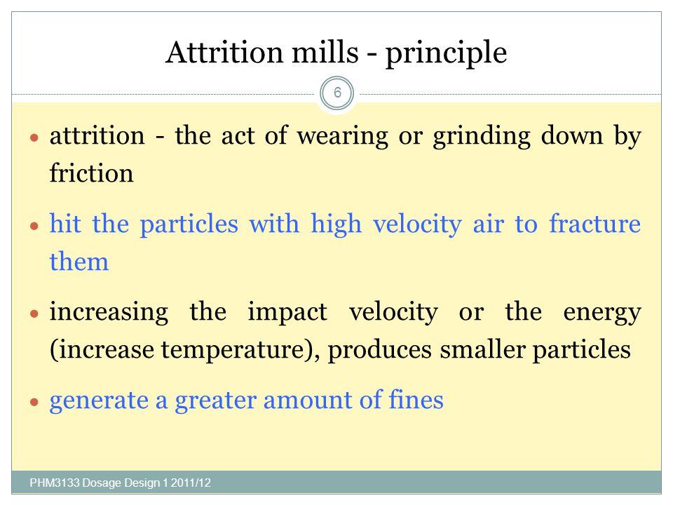 Attrition mills - principle