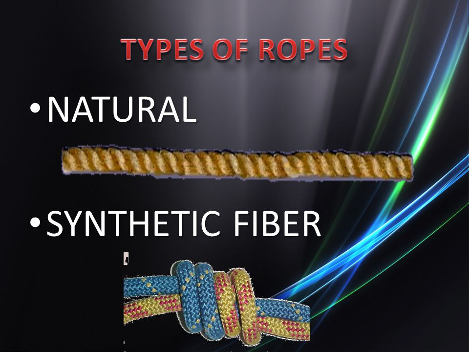TYPES OF ROPES NATURAL SYNTHETIC FIBER
