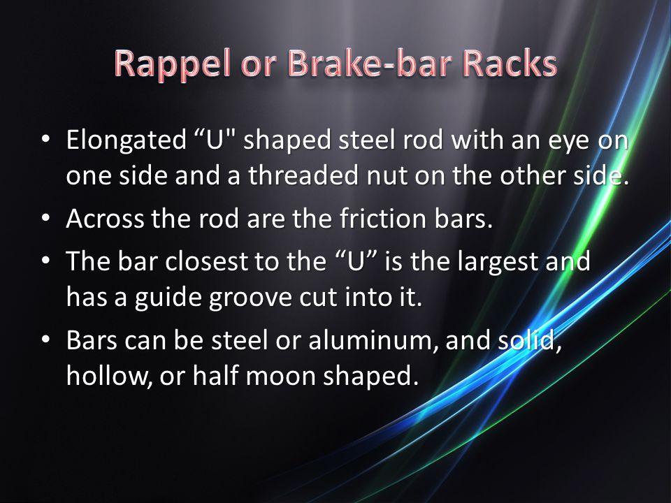 Rappel or Brake-bar Racks