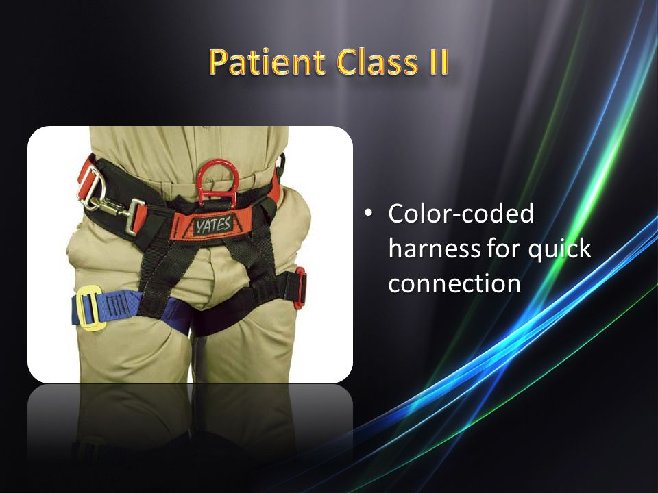 Patient Class II Color-coded harness for quick connection