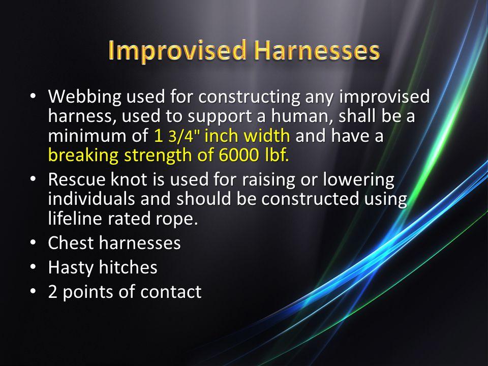 Improvised Harnesses